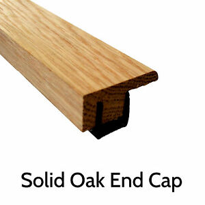Image is loading Solid-Oak-Threshold-039-End-Cap-039-0-  sc 1 st  eBay & Solid Oak Threshold u0027End Capu0027 0.9m Section Door Trim Strip ...