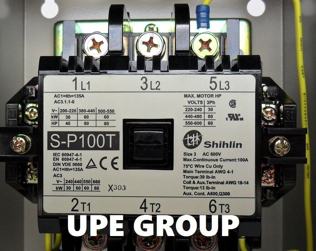 Shihlin magnetic starter 30 hp 3ph 230v for compressor electric