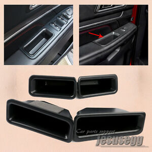 2x Front Door Armrest Storage Box Holder Container For Ford Explorer 2016-2017
