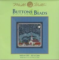 Christmas All Is Calm All Is Bright Buttons & Beads Kit By Mill Hill