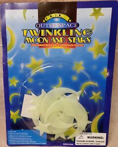 Glow-in-the-Dark-Moon-And-Stars-Brand-New-Long-lasting-glow-USA-Seller