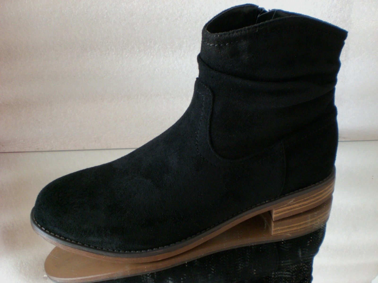 Another pair of Shoes alicee 1 señora caña corta botas negro uk5 nuevo