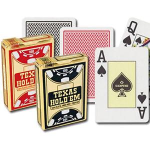 12 cartes Copag Gold Texas Hold'em cartes 100% plastique Cpg21