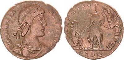 Denarios Y Antoninianos Follis Bronce Ae2 367-383 Antiguo/romanos Época Imperial Gratianus Ss
