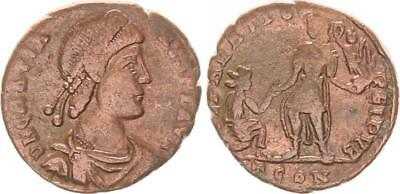 Monedas Y Billetes Gratianus Ss Follis Bronce Ae2 367-383 Antiguo/romanos Época Imperial