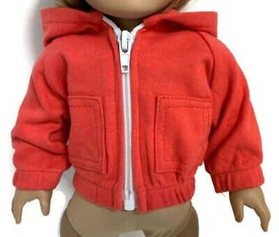 Red Knit Hooded Jacket made for 18 inch American Girl Doll Clothes