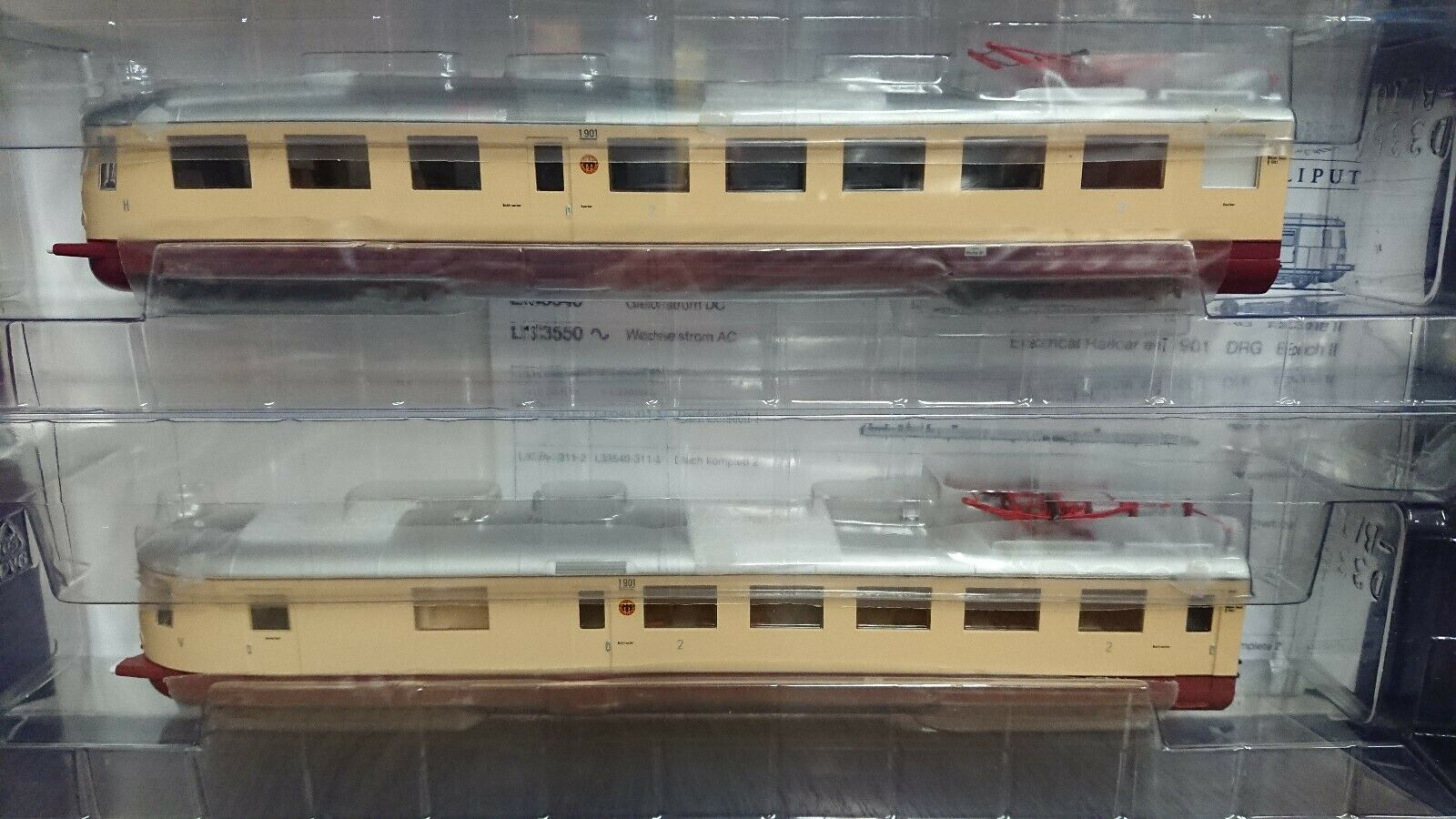 Bachuomon Liliput L133540 HO 187 2 piece Electric Train DRG Period II nuovo