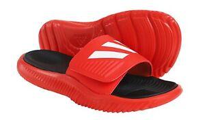 698b99f885e0 Adidas Men Alpha-bounce Slipper Red Black Shoes Slide Flip GYM ...