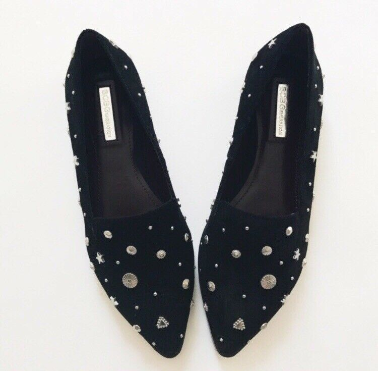 Bcbgeneration suede leather studded flats 7 7 7 8f58c7