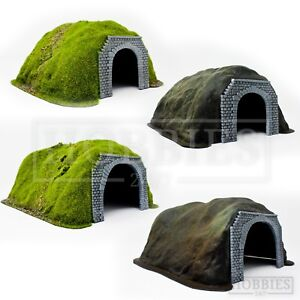 Javis-OO-Gauge-Tunnel-Single-Double-Track-Flocked-Grass-Hill-Scenery-Rail-Layout