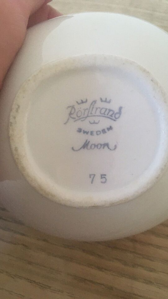 Porcelæn, Flødekande, Rørstrand Moon
