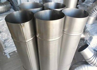 SET OF 5 INCH STEEL FLUE PIPES (5 PIPES + 3 ELBOWS) 125 MM : 5 inch flue pipe - www.happyfamilyinstitute.com