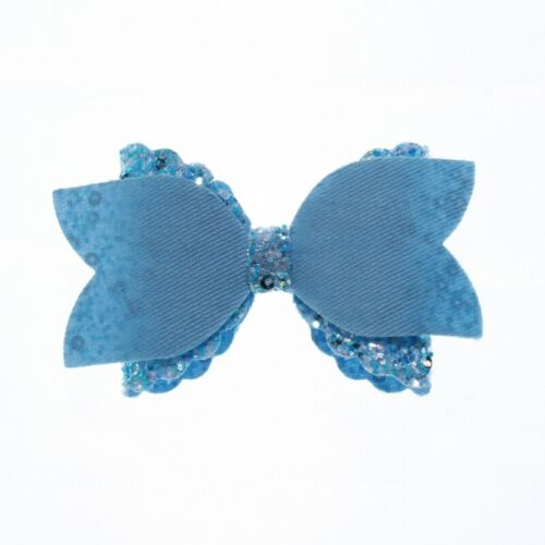 120PCS 8CM Newborn Glitter Leather Hair Bow With Fully Covered NO CLIPS