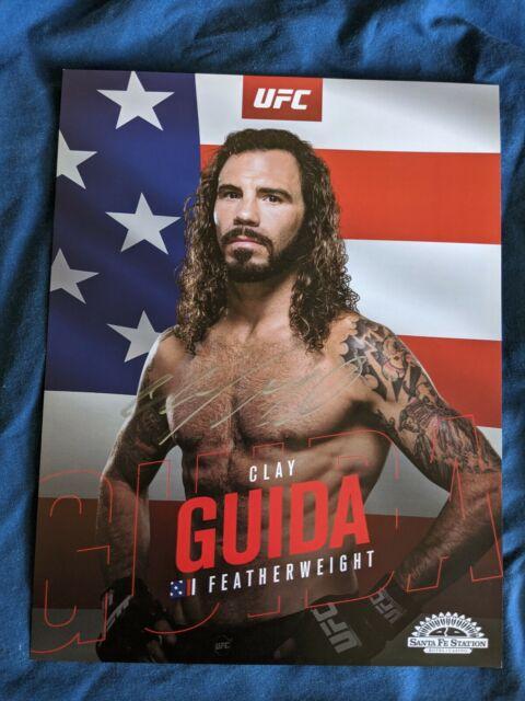 Clay Guida signed UFC 8.5x11 photo print autographed signature