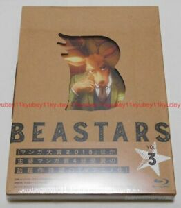 Nuevo-beastars-Vol-3-Primera-Edicion-Limitada-Blu-ray-FOLLETO-tarjeta-Japon-TBR-29243D