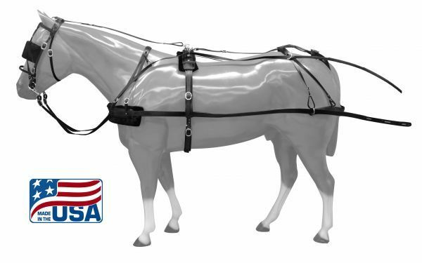 Medium Large Pony  Premium Quality synthetic driving harness. Made in the USA