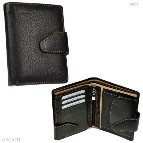 AMARI Damen Geldbörse Rindnappaleder Portemonnaie Geldbeutel Damenbörse 8095A