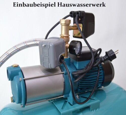 """Trockenlaufschutz Steuerung Hauswasserwerk 5-Wege-Verteiler 1/"""" Druckschalter"""