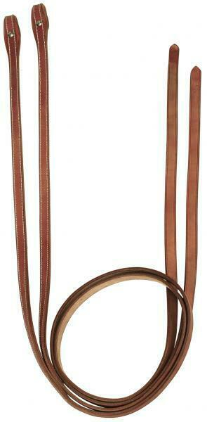 Busse Western Reins Show Split Horsehead Leather Chestnut Oiled Natural 5 8   X8