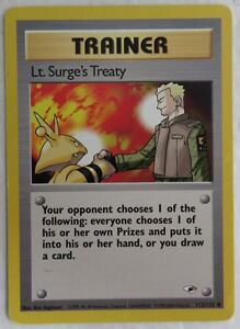 Surge/'s Treaty 112//132 Trainer Gym Heroes Pokemon Card Lt