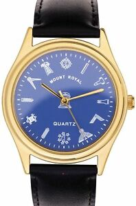 About Blue Masonic Wristwatch Box Chrome Details With Gents Symbols Gift Dial Plated zpqGVSUM