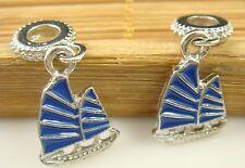 hot European Silver CZ Charm Beads Fit sterling 925 Necklace Bracelet Chain l11