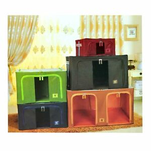 Foldable Storage Box Boxes Cloth Organiser Office Home Car Bedroom Stackable UK   EBay