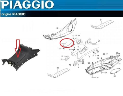 620250000C ,n°2 Trappe d/'essence d/'origine Piaggio X8 125 150 400
