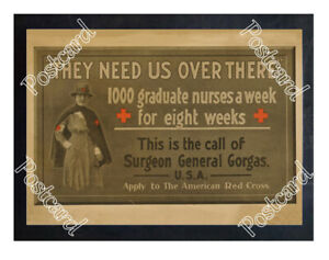 Historic-WWI-Recrutiment-Poster-1000-graduate-nurses-a-week-Postcard