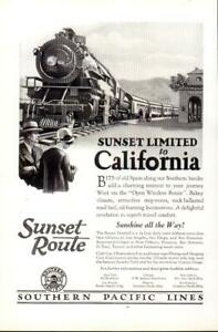 Advertising-Sunset-Route-Southern-Pacific-Lines-Railroad-California-Sunshine1926