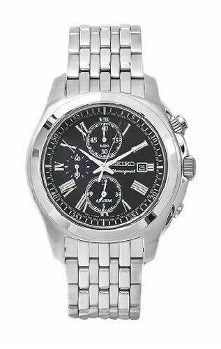 SEIKO Alarm Chronograph SNAE31 SNAE31P1 Men's Roman Sapphire 100m Watch