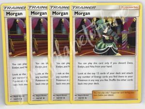 4 x Morgan 149//181 Pokemon Trainer Cards SM TEAM UP
