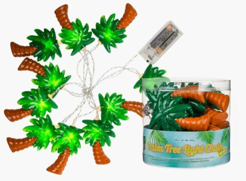 NOVELTY FUNKY PALM TREE SHAPED STRING LED PARTY LIGHT NIGHT NEW IN GIFT BOX OOB