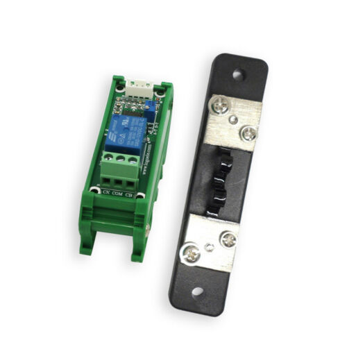 20A 12V DC Current Detection Module with Base Current Sensing Relay Control