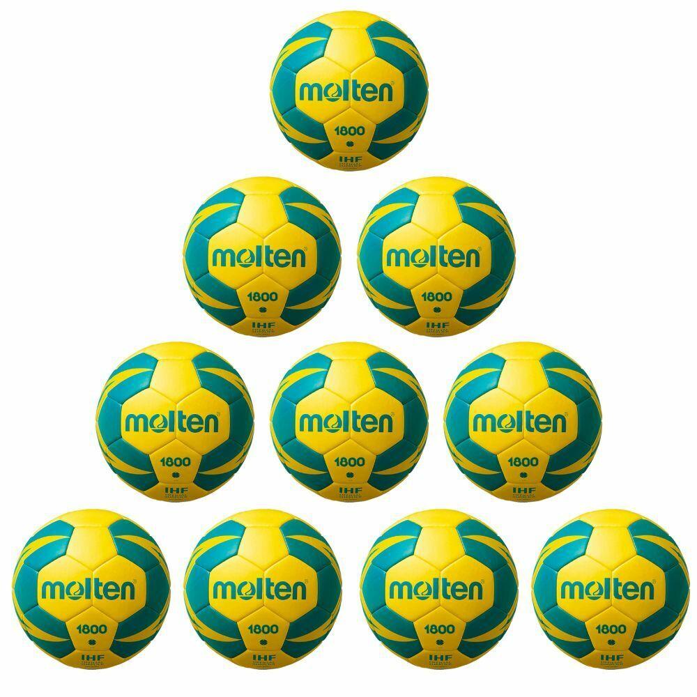 Molten Handball H2X1800-YG IHF Top Top Top Trainingsball 10er Paket gelb grün Gr 2 52a3d2
