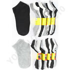 ONE DOZEN 12 Pairs 9-11 & 10-13 Sports  Ankle Socks White Black Gray Mix Unisex
