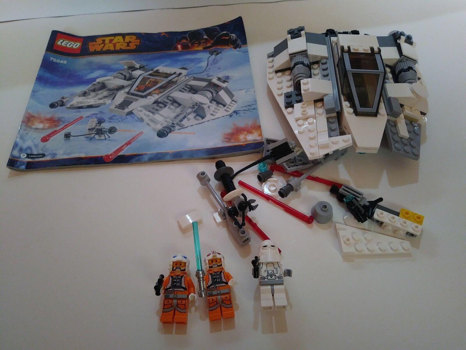 LEGO estrella guerras 75049 Snowspeeder 90% Built  See Pics 100% completare  risparmia il 60% di sconto