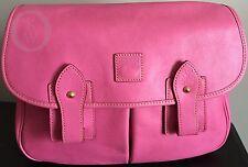 NWOT*Dooney & Bourke*Pink*Florentine Leather*Saddle Bag*Messenger* #17093D S228