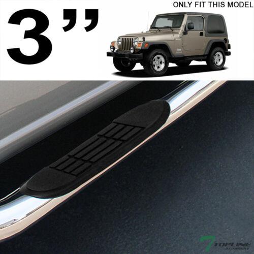 "Topline For 1987-2006 Jeep Wrangler 2 Door 3/"" Side Step Nerf Bars HD Stainless"