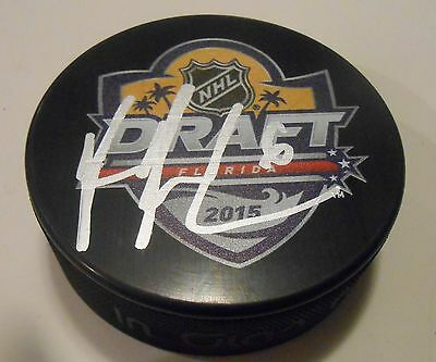 Cheap Price Ryan Pilon Signed 2015 Nhl Draft Hockey Puck W/coa New York Islanders For Improving Blood Circulation Hockey-nhl Pucks