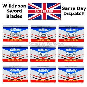 Wilkinson-Sword-Double-Edge-Cut-Throat-Safety-Shaving-Razor-039-s-Blades-5-20-50-100