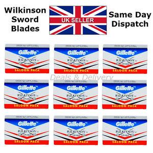 Wilkinson-Sword-Double-Edge-Cut-Throat-Safety-Shaving-Razor-039-s-Blades-5-20-50-100