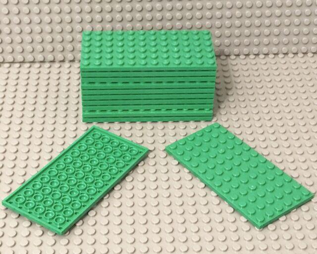 Lego 12 Pieces Bright Green Plate 6x12 Building Plates Bulk Lot Part #3028