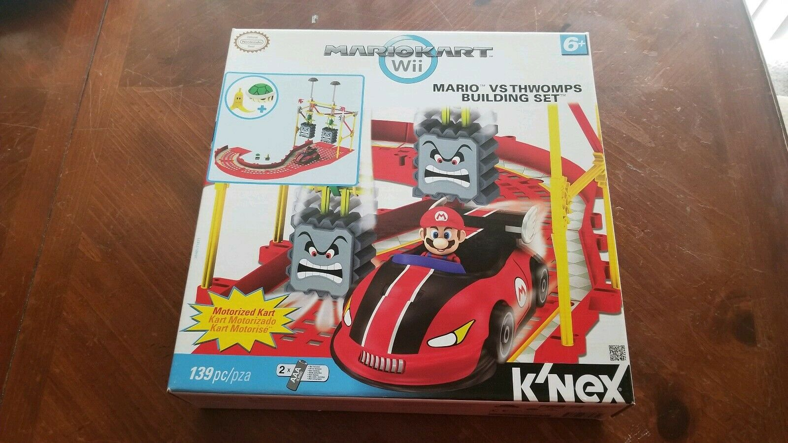 KNEX Mario Kart Wii Mario vs Thwomps Building Set (38465) New Free Shipping