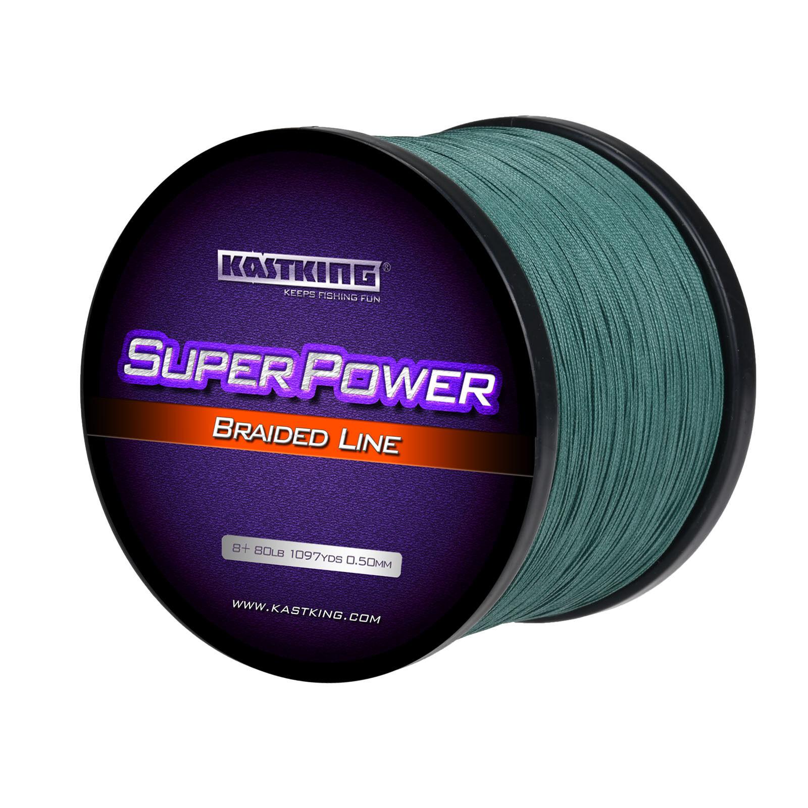 KASTKING SUPER POWER BRAID FISHING LINE -  MOSS GREEN - 1094YARD 65LB(8 STRANDS)  up to 70% off