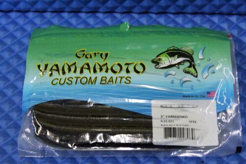 "Gary Yamamoto 5/"" Yamasenko Custom Baits 9-10 Series 10 Pack CHOOSE YOUR COLOR!"