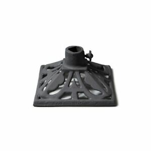 TIKI-Brand-Metal-Cast-Iron-Torch-Stand-Accessory-Charcoal-Black-9-in-x-9-in-New