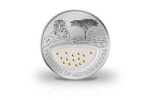 1-Dolar-Moneda-de-Plata-Treasures-Of-Mother-Nature-Sudafrica-Con-Oro-en-Estuche