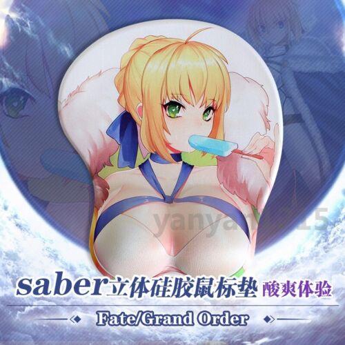 Fate//Grand Order Altria Pendragon Anime Soft 3D Silicon Mouse pad Wrist Rest