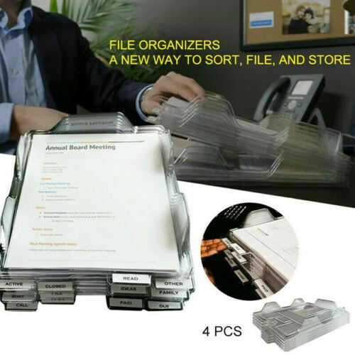 Files & Supplies 4PCS Office File Organizers A New Way To Sort ...